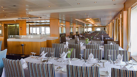 view of the dinning room of the cruise ship louis Cristal