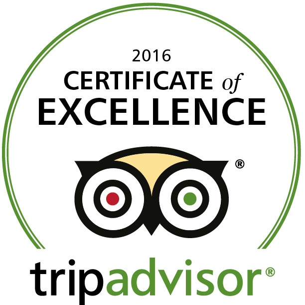 cerificate of excellence for our tours 2016